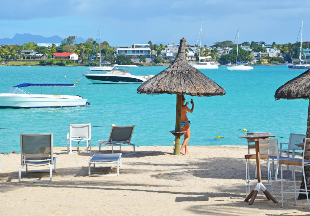 Svane Rejser's hoteller i Mauritius - Strand ud for Grand-Baie